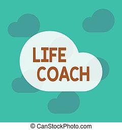 coach., fogalmi, élet, szöveg, fénykép, azokat, felszolgál, ...