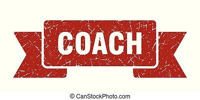 coach grunge ribbon. coach sign. coach banner