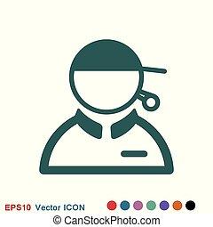 Coach icon, banner coaching concept, vector logo - Coach ...