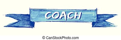 coach ribbon - coach hand painted ribbon sign