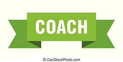 coach ribbon. coach isolated sign. coach banner