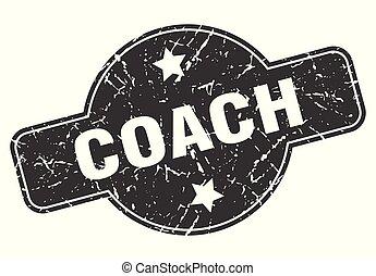 coach round grunge isolated stamp