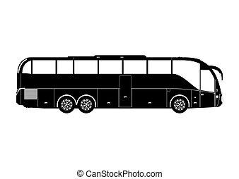 Coach silhouette.
