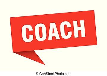 coach speech bubble. coach sign. coach banner