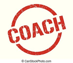 coach stamp - coach red round stamp