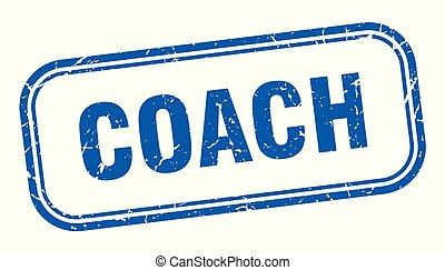 coach stamp. coach square grunge sign. coach