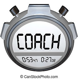 Coach Stopwatch Timer Train Skills for Achieving Success