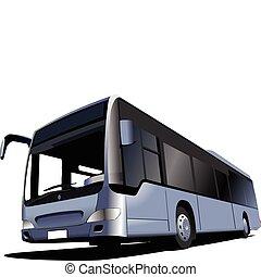 coach., vecteur, bus., touriste