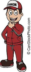 Coach vector cartoon illustration design
