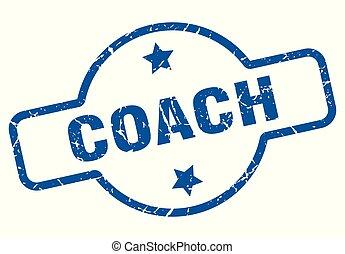 coach vintage stamp. coach sign