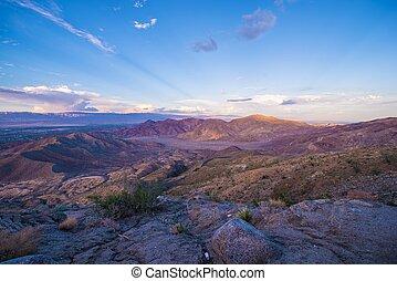 Coachella Valley Sunset - Coachella Valley and Mountains ...