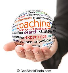 coachend, concept, leren