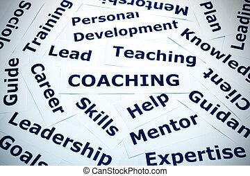 coachend, concept, vignet