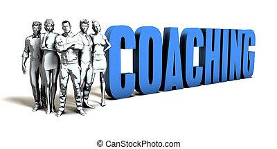 coachend, concept, zakelijk