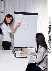coachend, jonge, handel vrouwen