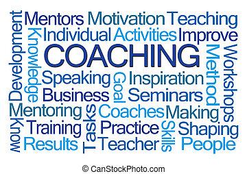 coaching, слово, облако
