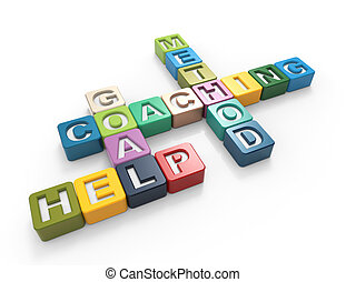 Coaching 3d word concept