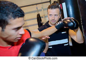 coaching a boxer