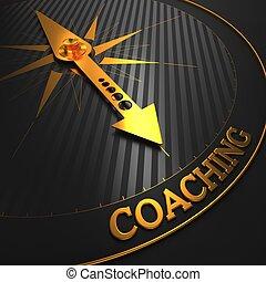 coaching., affari, fondo.