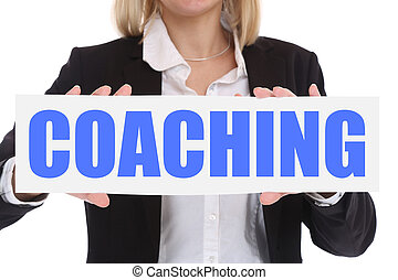 Coaching and mentoring education training workshop learning seminar business concept