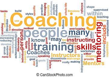 Coaching background concept - Background concept wordcloud...