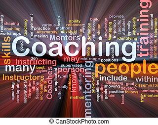 Coaching background concept - Background concept wordcloud...
