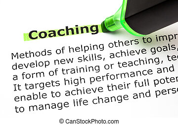 Coaching Definition - Definition of the word Coaching, ...