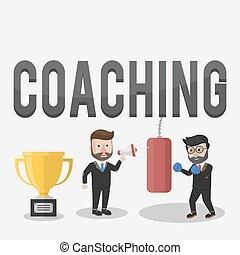 Coaching giving rigorous training for the trophy