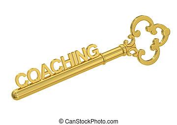 Coaching - Golden Key, 3D rendering