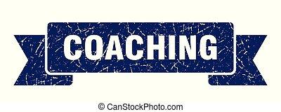 coaching grunge ribbon. coaching sign. coaching banner