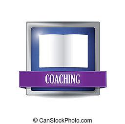 coaching icon illustration design