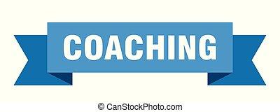 coaching ribbon. coaching isolated sign. coaching banner
