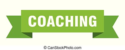 coaching ribbon. coaching isolated sign. coaching banner