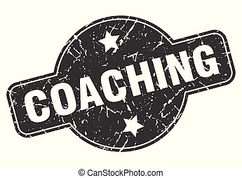 coaching round grunge isolated stamp