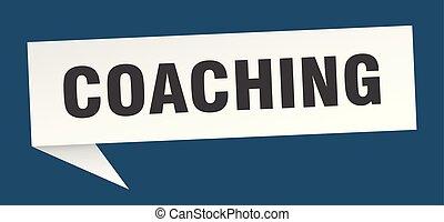 coaching speech bubble. coaching sign. coaching banner