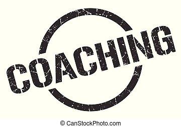 coaching stamp - coaching black round stamp