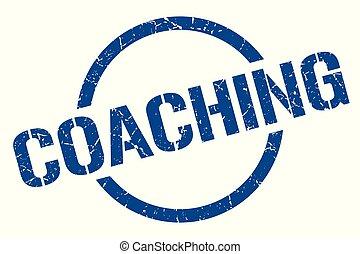 coaching stamp - coaching blue round stamp