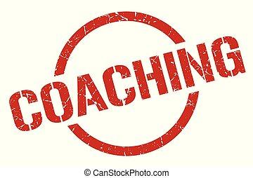 coaching stamp - coaching red round stamp