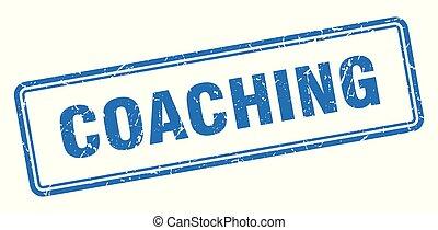 coaching stamp. coaching square grunge sign. coaching