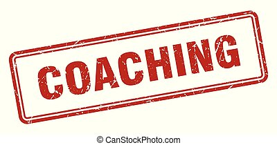 coaching stamp. coaching square grunge sign. coaching