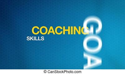 Coaching - Animated Coaching Word Illustration. Kinetic...