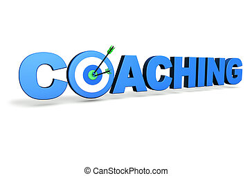 Coaching Target Concept - Hit the mark and business goals...