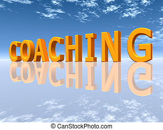 Coaching - The word COACHING - Computer generated 3D...
