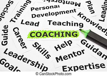 Coaching with other related words - Coaching highlighted...