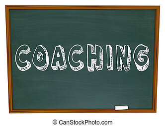 Coaching Word Chalkboard Teaching Learning Sports Education...
