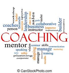 Coaching Word Cloud Concept - A Coaching word cloud concept...