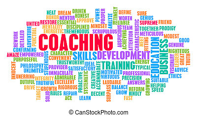 Coaching Word Cloud Concept