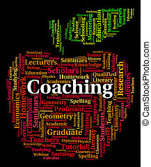 Coaching Word Means Give Lessons And Seminar - Coaching Word...