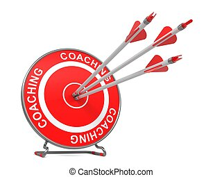 coaching., zakelijk, achtergrond.