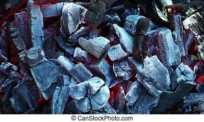Coal Barbecue  fire